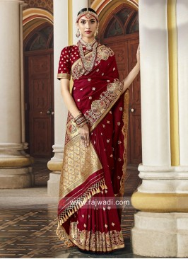 Wedding Designer Saree with Blouse