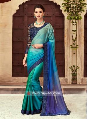 Wedding Designer Shaded Saree