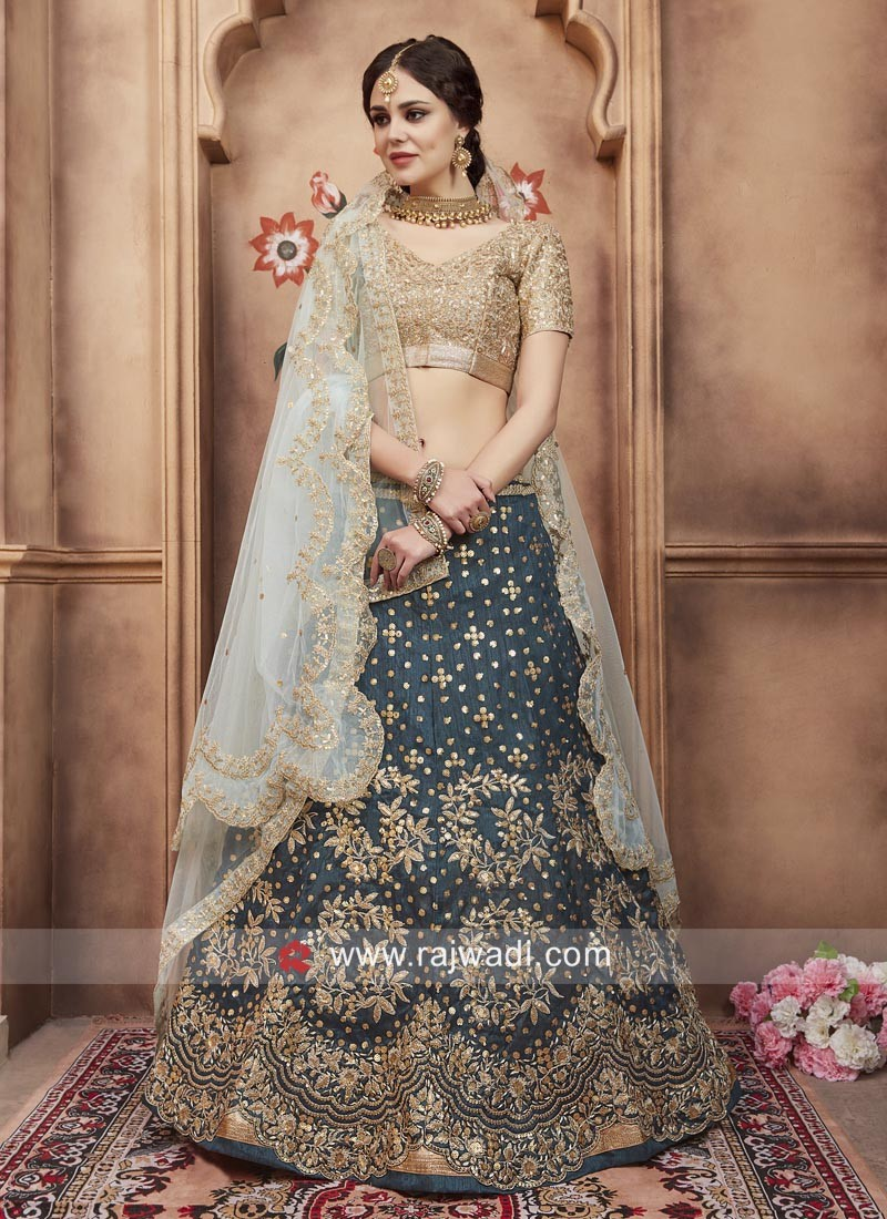 Exclusive Tikki Work Wedding Lehenga Choli