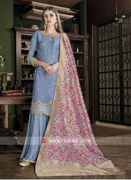 Wedding Gharara Suit with Dupatta