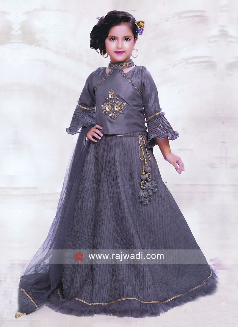 Wedding Grey Choli Suit
