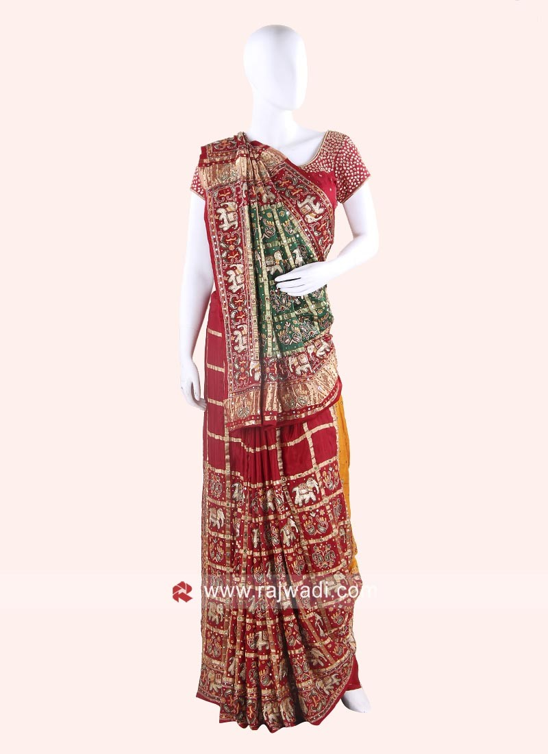 1bf77de6984 Wedding Gujarati Panetar with Blouse
