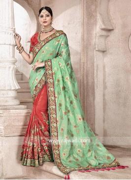Wedding Half n Half Saree with Blouse