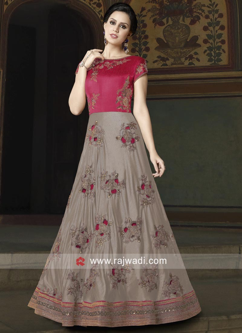 Wedding Heavy Work Anarkali Salwar Suit