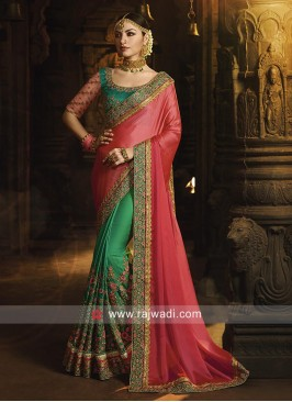 Wedding Heavy Work Saree with Blouse