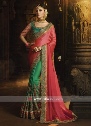 Wedding Heavy Work Saree with Blouse