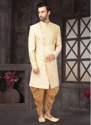 Wedding Indo-Western In Cream Color