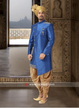 Wedding Indo Western in Blue Color