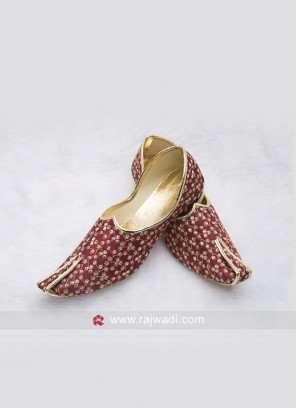 Wedding Maroon Mens Mojari