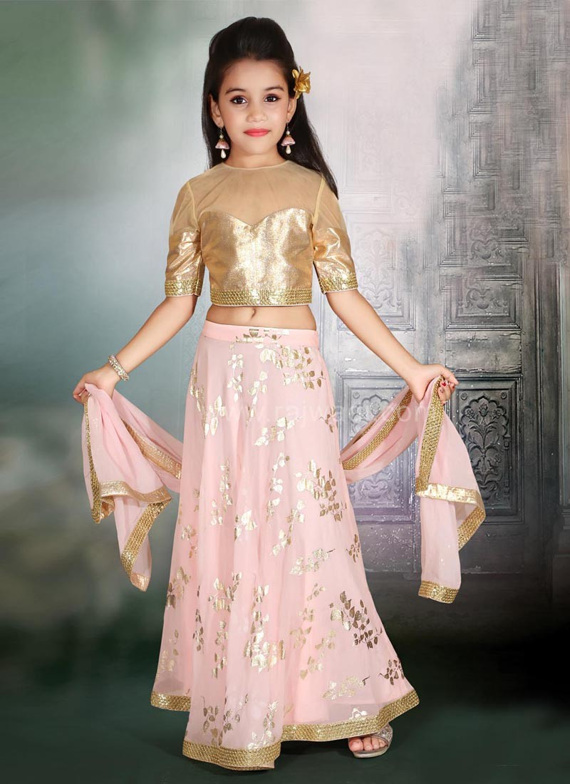 Wedding Net Choli Suit with Golden Border