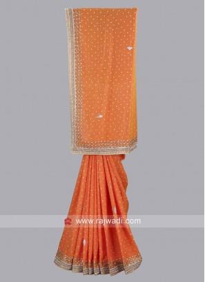 Wedding Orange Saree