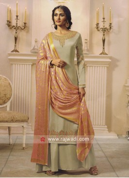 Wedding Palazzo Suit with Embroidery Work