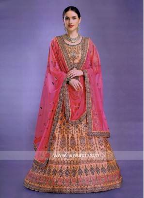 Wedding Peach Lehenga Choli