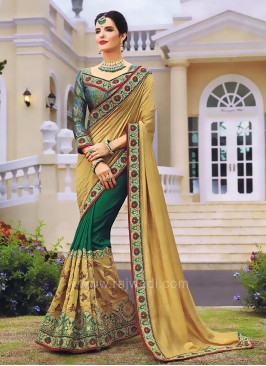 Wedding Pearl Work Saree with Blouse