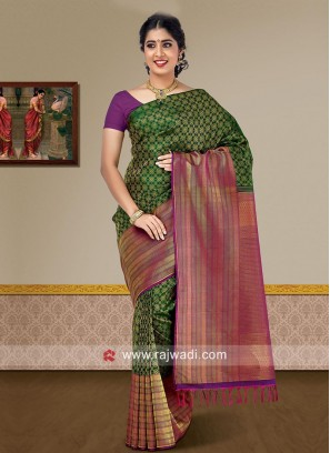 Wedding Pure Silk Woven Saree