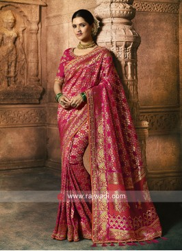 Wedding Rani Color Saree
