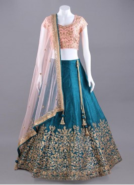 Wedding Raw Silk Choli Suit with Dupatta
