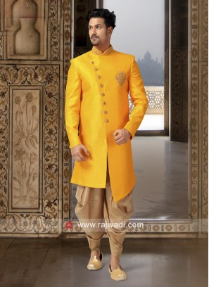 Mustard Yellow Color Indo Western