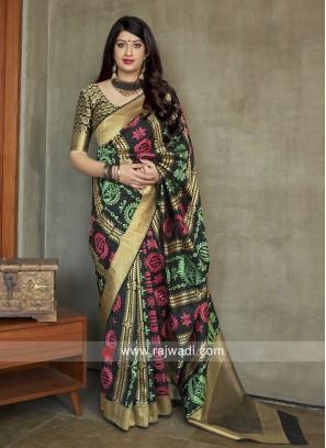 Wedding Reception woven Saree