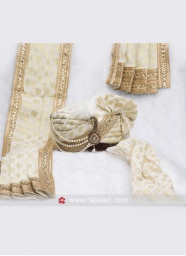Wedding Safa And Dupatta with Fancy Broach