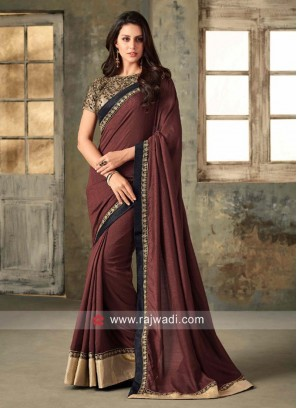 Wedding Saree with Embroidered Blouse