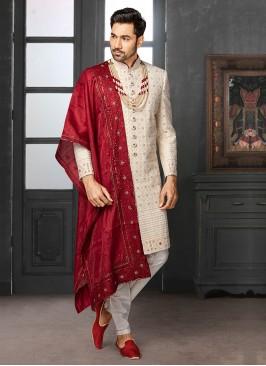 Thread Work Wedding Sherwani