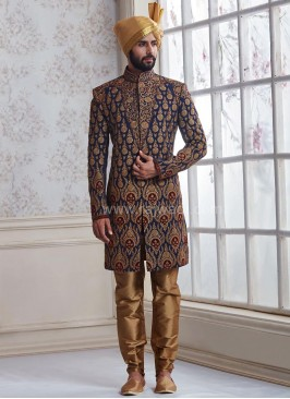 Wedding Silk Indo Western Sherwani