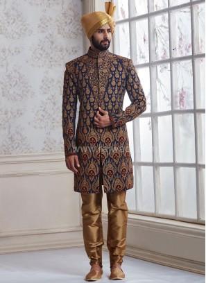 Wedding Silk Indo Western Sherwani