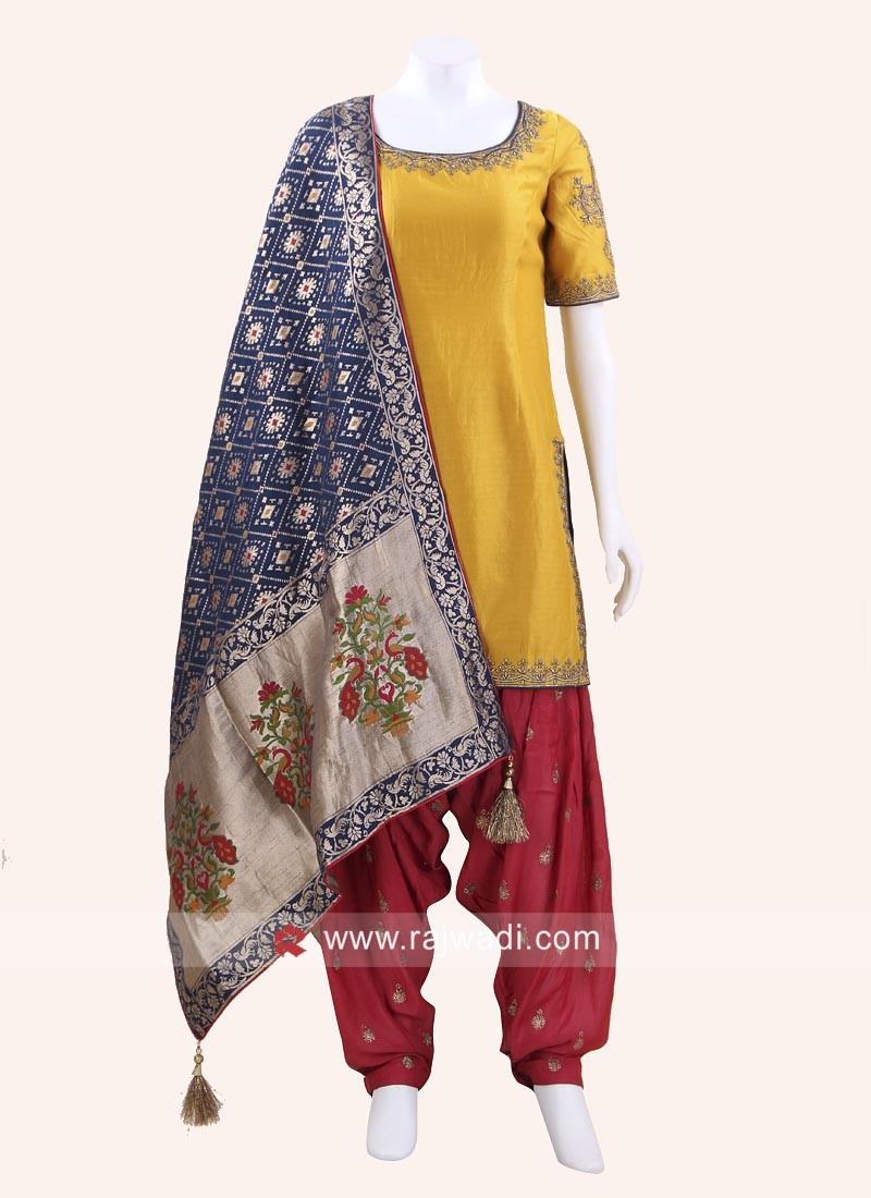 Wedding Silk Patiala Salwar Kameez