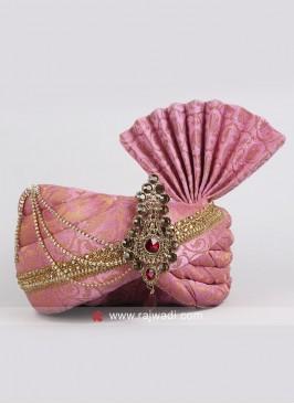 Wedding Turban with Fancy Broach