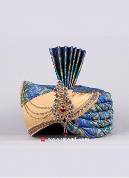 Wedding Turban with Fancy Broach
