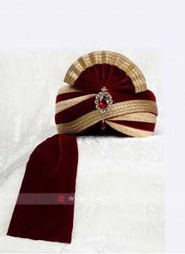 Wedding Velvet Turban For Groom