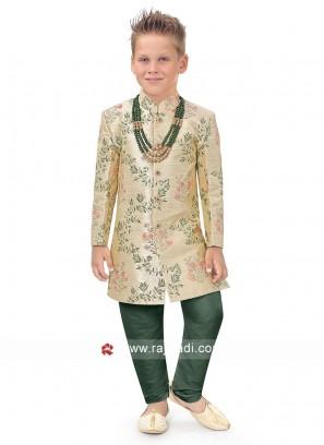 Wedding Wear Art Silk Indo Western