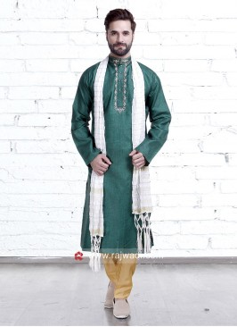 Wedding Wear Art Silk Kurta Pajama