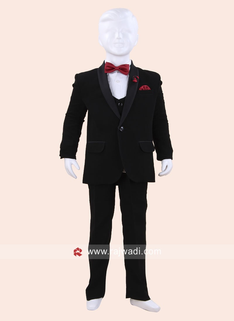 Wedding Wear Black Boys Suit