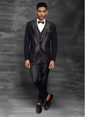 Wedding Wear Black Suit