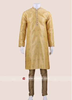 Wedding Wear Brocade Silk Kurta Pajama