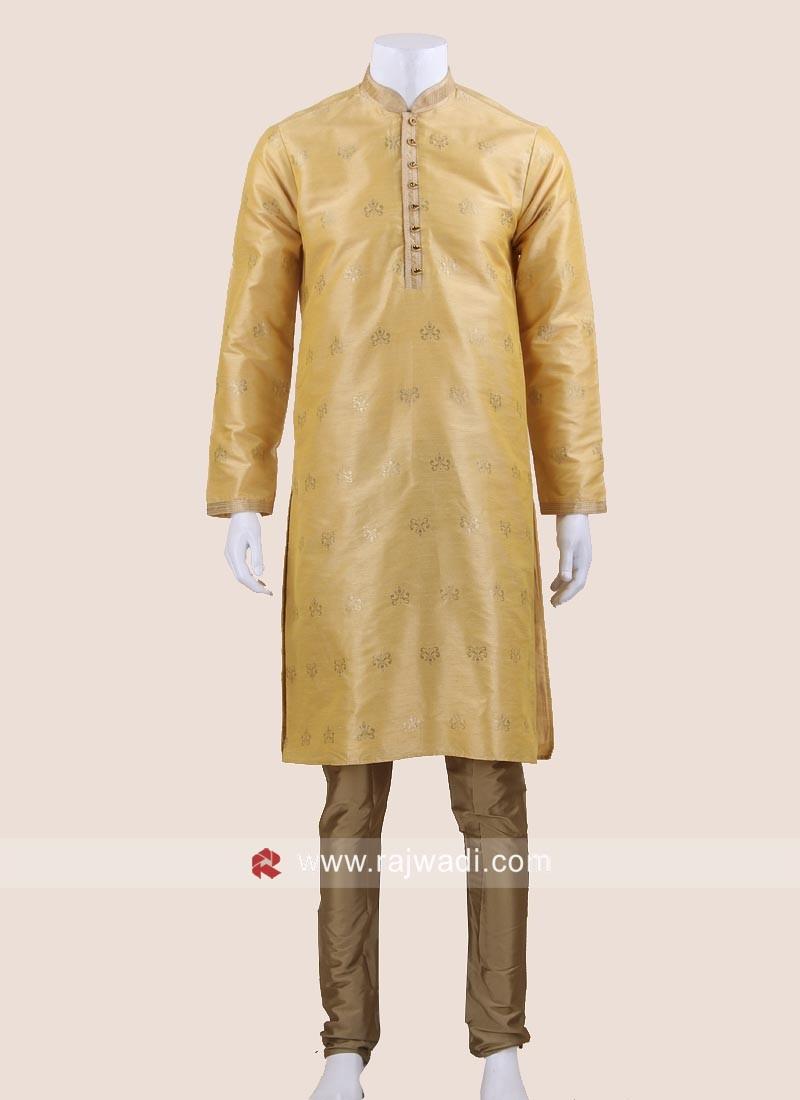 Wedding Wear Brocade Silk Kurta Pajama