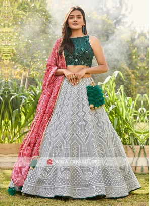Wedding Wear Chiffon Lehenga Choli