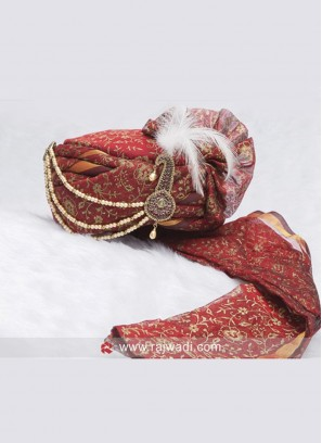 Wedding Wear Cotton Silk Turban