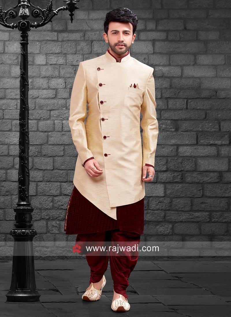 Wedding Wear Cream Indo Western