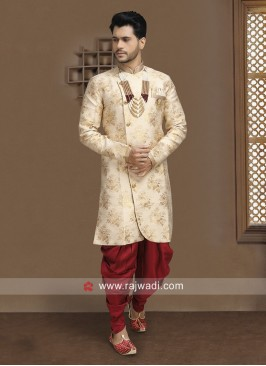 Wedding Wear Cream Indo Western