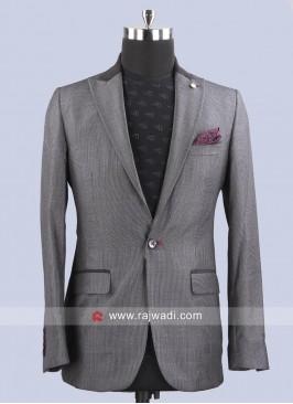 Wedding Wear Dark Grey Blazer