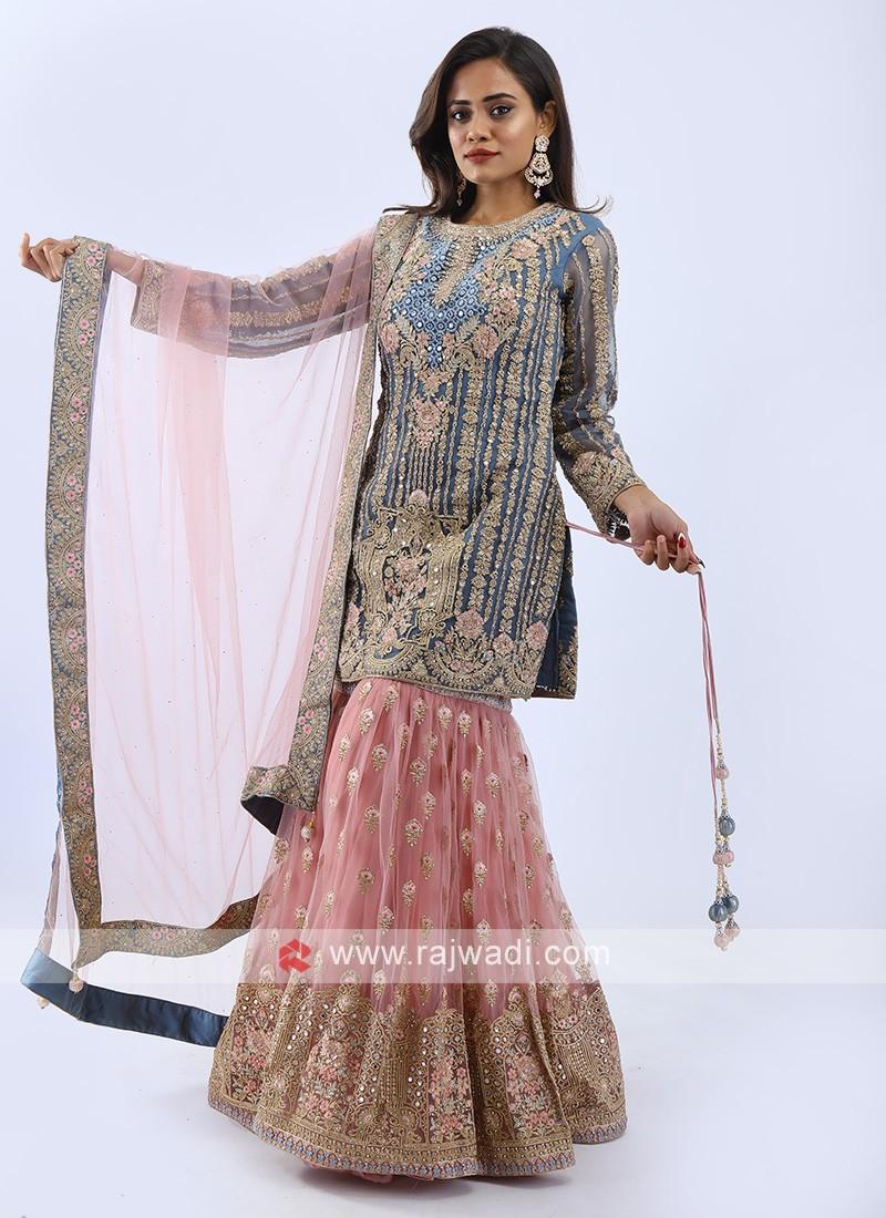 Wedding Wear Gharara Suit