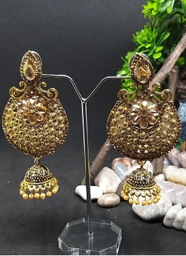 Wedding Wear Gold Chandbali