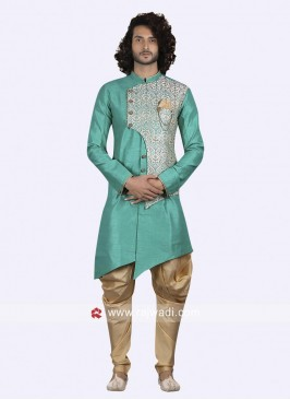 Wedding Wear Sea Green Indo Western