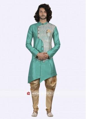 Wedding Wear Sea Green Indo Western