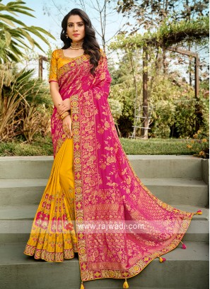 Wedding Wear Half N Half Saree