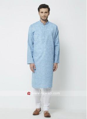 Wedding Wear Light Blue Kurta Pajama