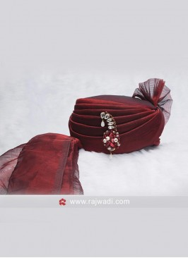 Wedding Wear Maroon Color Safa